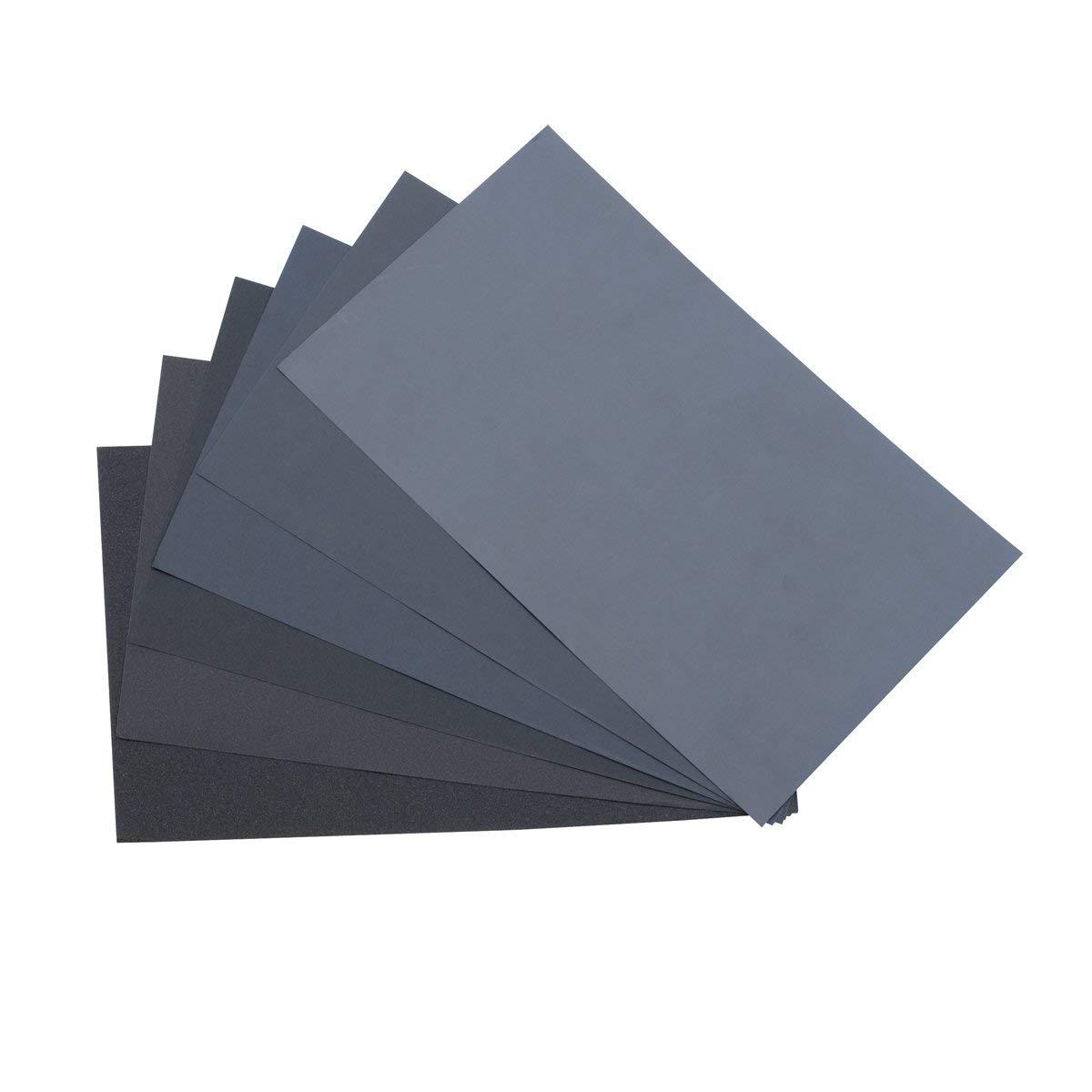 "9"" x 11"" 1,200 Grit Wet/Dry Sanding Paper - 10 Sheets Jewelry Making Ceramic Glass Stone Metal Finishing Abrasives"