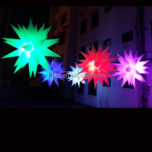 large outdoor stage decoration led Christmas inflatable star, five-pointed hanging lighted inflatable star