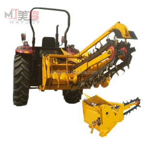 Mini chain type tractor ditcher/trencher machine for sale