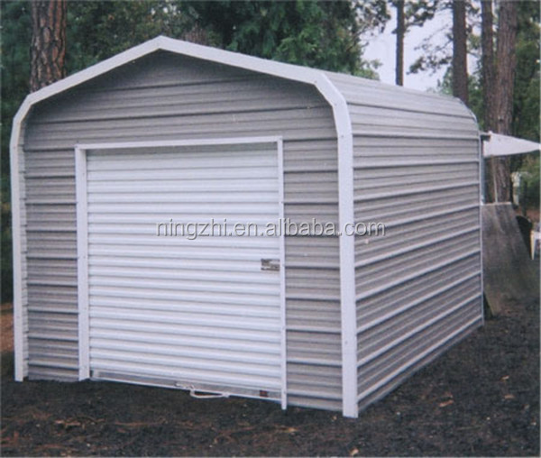 Prefab house carport with sidewall ebclousure kits buy for One car garage kits sale
