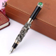 RCGS-046 Christmas Green Emerald Pearl Decoration Jinhao Dragon Metal Roller Pen