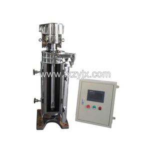 New conditioned large volume continuous operation tubular centrifuge