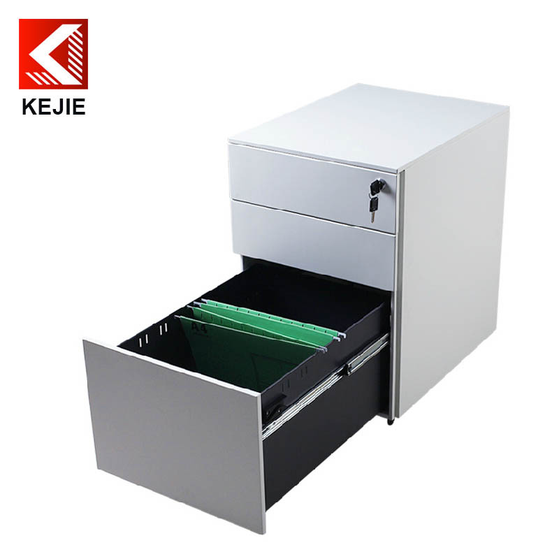 3 Drawer Movable Cabinet Small Mdf Filing Cabinet Under