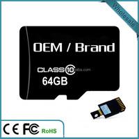 Factory price micro Original import sd 1-128gb memory cards china 64GB TF Card