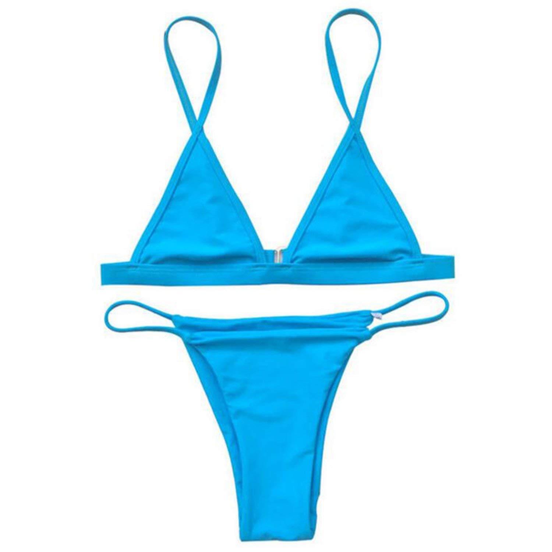 a00e56a3a6 Get Quotations · shopping-more 2018 Women s Bikini Triangle Top Brazilian  Bottoms Swimsuits Girls Bikini Set