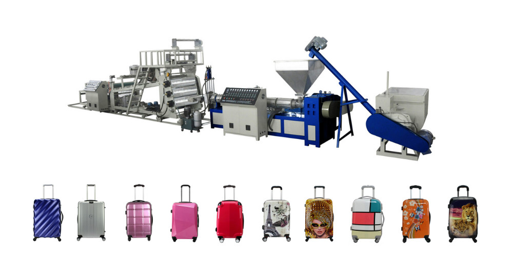 Plastic sheet PC ABS PP hard luggage Extruder Machinery Factory, Suitcase Machine Manufacturer, Baggage case Production Line