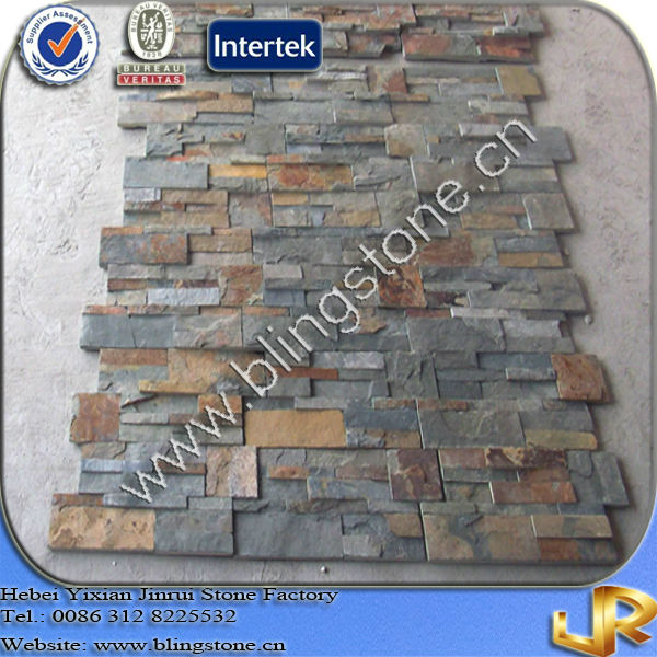 Real Natural Slate 3D Stone Wallpaper