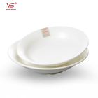 Food Grade Melamine Custom Logo Round Plate Buffet Fruit Salad Dish