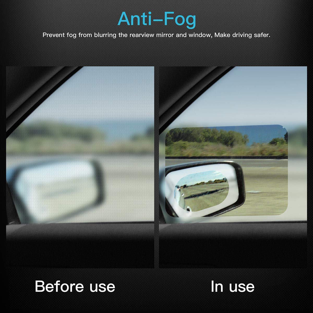 1 pair waterproof breathable polyurethane film with anti-fog
