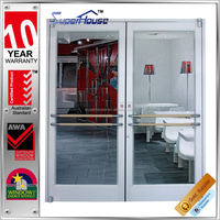 shop front high quality aluminum spring doors