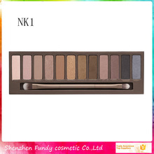 Top China makeup cosmetics supplier 12 colors naked eye shadow pallette 12 color eyeshadow palette