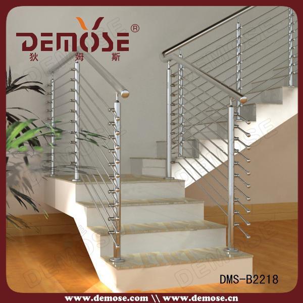 diseos de barandilla de escalera de madera de acero exterior desmontable