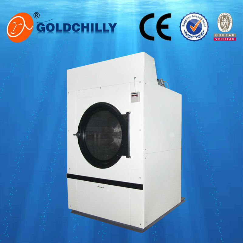 good quality big capacity 100kg low noise vented tumble dryer for bedsheets