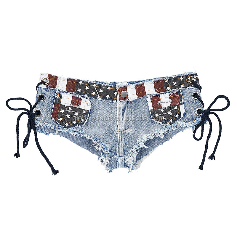New sexy summer women's hot pants Europe and America ultra short women's sexy hole denim shorts