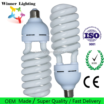 E27 Energy Saving Bulbs 65W Half Spiral Lamp CFL Fluorescent 17mm Tubes