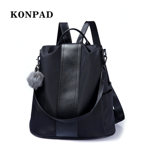 KY0098 Women Backpack Lightweight School Shoulder Bag Waterproof Nylon Rucksack