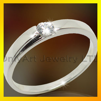 with CZ plain sterling silver 925 band ring jewellery