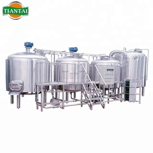 Building a craft 2000L steam four vessel microbrewery for sale