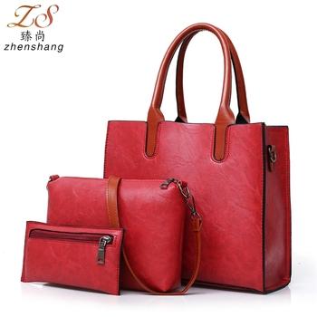 Taiwan Online Ping Elegance 3 Pcs In 1 Set Tote Bags Women Handbags Product