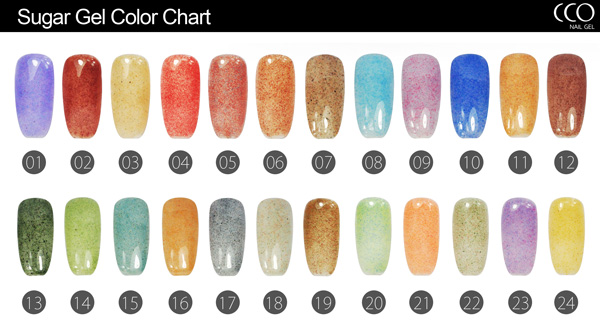CCO uv nail polish brands Sugar greenstyle gel polish Organic 24 Colors UV Gel Nail Polish