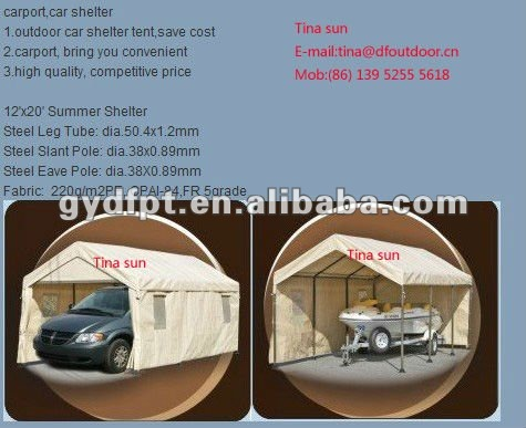 3*6m heavy duty t Steel Car and boat Canopy