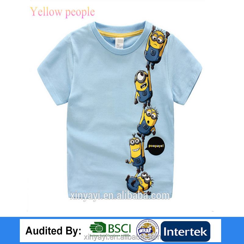 High quality 100% cotton new model kids girls t shirt with cartoon tu children clothing 2017