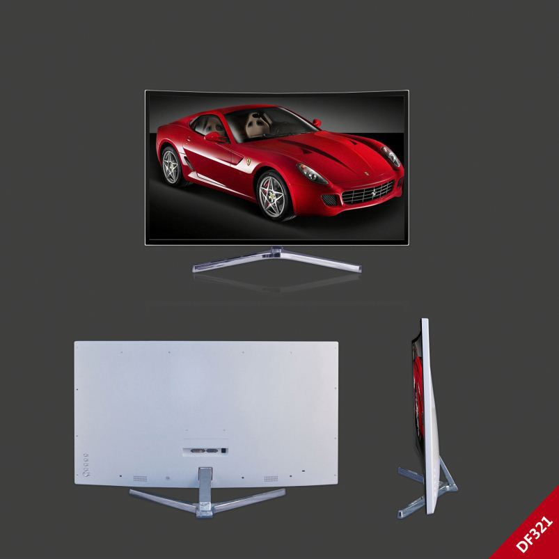 Lcd Pc Monitor 4K Resolution 32' Curved Panel