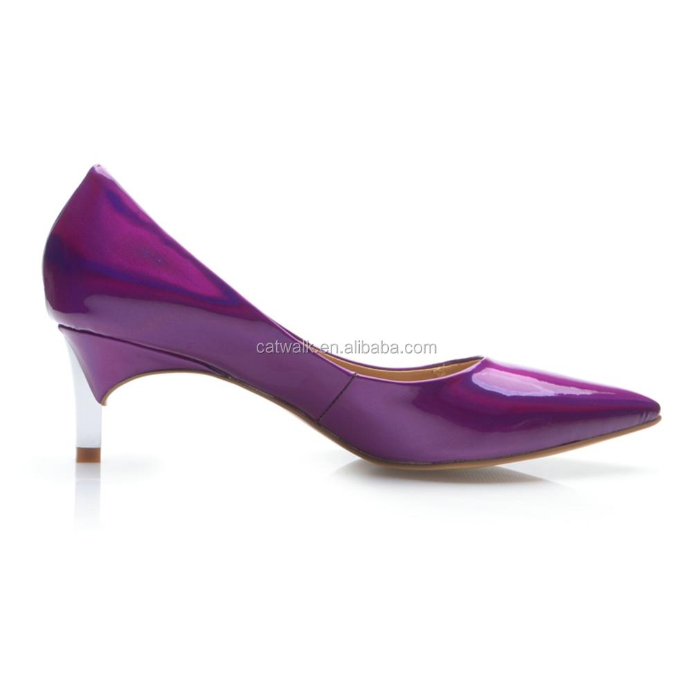 Purple Shoes Low Heel