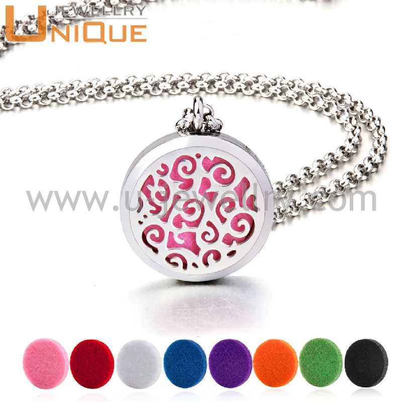 New style stainless steel material essential oil diffuser necklace