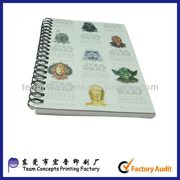 sprial exercise school writing books printing