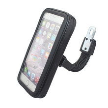High Quality Universal Motocycle Mobile Phone Holder Waterproof Bag Case With Handlebar Bracket Mount Base For iPhone 6 Plus