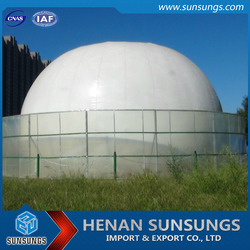 Organic biogas storage system membrane type vessel for biogas plant