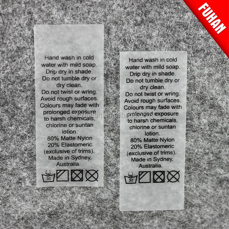 Superior Quality Swimwear Care Label,Wholesale Care Label - Buy ...