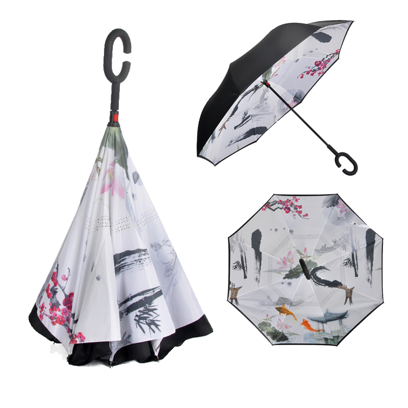 latest products in market double layer reverse umbrella