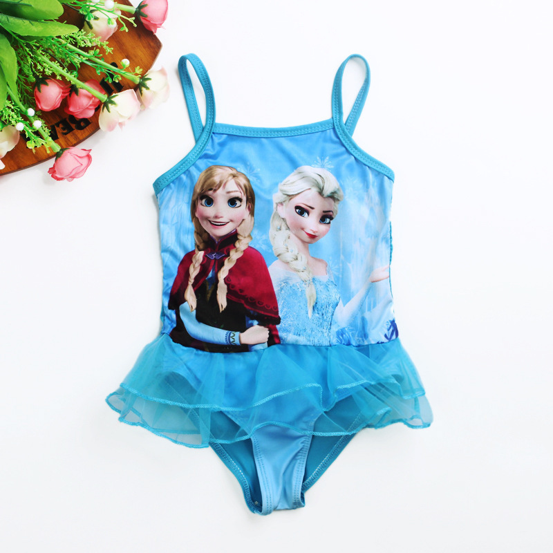 0a96478d57caf Buy Retail 2015 New Blue Girls Kid Swimsuit Swimwear 2T-6 Tankini Swimwear  Bathing Beachwear Suana Wear Kid's Favorite Cartoon ST004 in Cheap  Price on ...