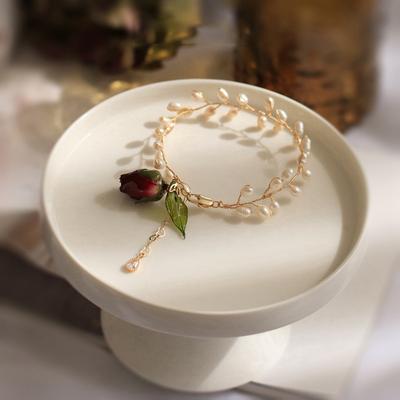 Amazon 925 Silber Großhandel Mode Echt Rose Halskette für Frauen Gold & Rose Gold & Silber Farbe Rose Blume Anhänger halskette