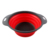 Food Grade Silicone 2pcs Collapsible Colander Strainers Set with Grip Handles