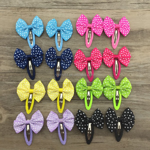 7 years professional produce hair clip accessories cute dot girls hair clips new design BB clips