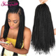 12-24 Inches Crotchet Box Braids Hair Extensions #1B/1/2 Blonde Brown Burgundy Crochet Braids Synthetic Hair