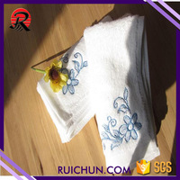 combed plush cotton soft fingertip towels for embroidery