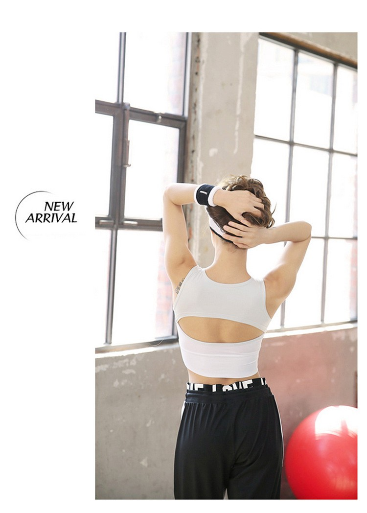 3D Cup Professional Shockproof Sports Bra No Rims Fitness and Yoga Wear Crossed Back Camisole