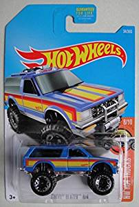 Hot Wheels, 2017 HW Hot Trucks, Chevy Blazer 4X4 [Blue] 34/365