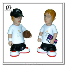 Plastic superstar simulated model develop, customized plastic star figures in professional maker