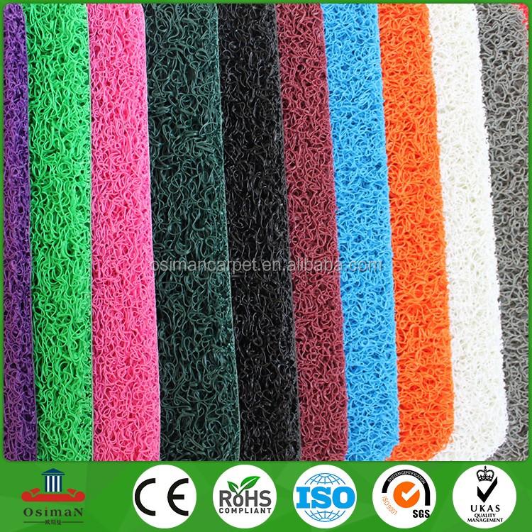 China Manufacturer Por Pvc Plastic Mesh Loop Outdoor Waterproof Anti Slip Door Floor Mat Mats Entrance