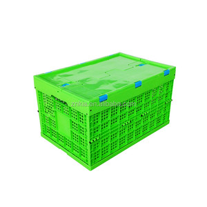 collapsible Mesh style green color plastic storage baskets for fruit and vegetable storage