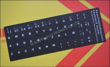 White spanish letter on black background laptop keyboard key white spanish letter on black background laptop keyboard key stickers spiritdancerdesigns Images