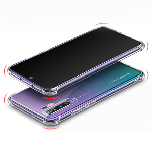Sounds Transition Design Shockproof Crystal Transparent Soft TPU Bumper  Case For Huawei P30 Pro