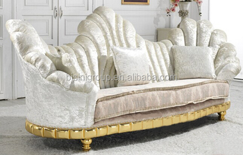 High Back Three Seat Fabric Sofa
