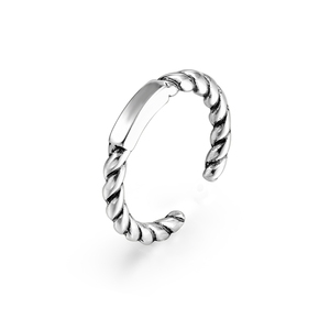 Craftsmanship s925 sterling silver hand ornament female Korean version small fresh thread geometry cylinder ring