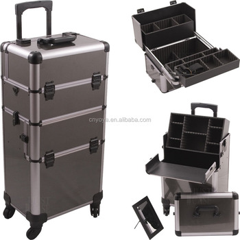 Rolling Makeup Cosmetic Hair Stylist Storage Case